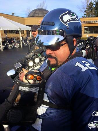 Post-NFC Pre-Super Bowl Seahawks & ESHOG Celebration Ride 2015