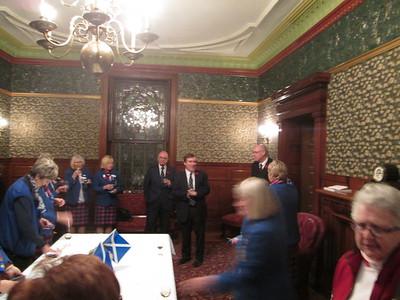 Reception for Scottish Curlers—Nov. 9, 2015