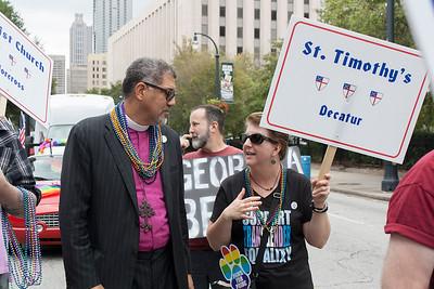 Representing in the Pride Parade