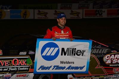 Chris Ferguson won the Miller Welders Fast Time Award