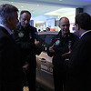 BMW, Solar Impulse Pilots and Achim Steiner in front of BMW Electric Vehicle