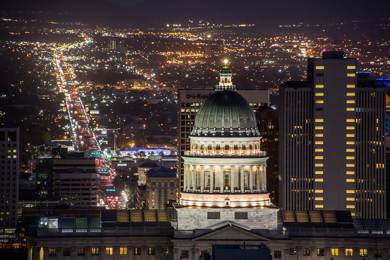 Utah State Capital at Night