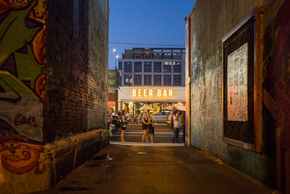 Alley View of Beer Bar