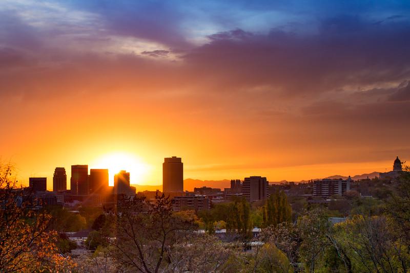 Salt Lake Autumn Sunset