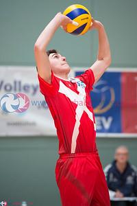 Glasgow Life International Volleyball, Scotland Select 3 vs 1 Team Northumbria (25-19, 21-25, 25-18, 25-23) , Holyrood Sports Centre, 24 May 2015.  © Lynne Marshall