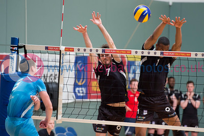 Glasgow Life International Volleyball, Scotland 1 vs 3 England Select (25-18, 18-25, 13-25, 19-25), Holyrood Sports Centre, 23 May 2015.  © Lynne Marshall
