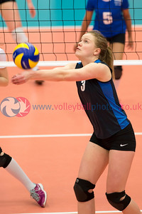 Scotland Junior Women 1 v 3 Scotland Student Sport (13-25, 16-25, 25-9, 20-25), University of Edinburgh, Centre for Sport and Exercise, 17 April 2015.  © Lynne Marshall
