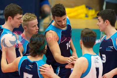 Scotland Junior Men 0 v 3 Scotland Student Sport (16, 18, 12), University of Edinburgh, Centre for Sport and Exercise, 17 April 2015.© Lynne Marshall