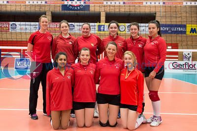 Women's Plate Final, Edinburgh Jets II 0 v 3 Su Ragazzi II (19, 22,13), University of Edinburgh, Centre for Sport and Exercise, 18 April 2015.  © Lynne Marshall