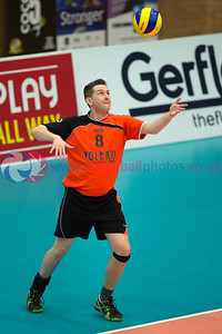 Men's Thistle Bowl, South Ayrshire 3 v 0 Glasgow Mets II (18, 16, 16), University of Edinburgh, Centre for Sport and Exercise, 18 April 2015. © Lynne Marshall