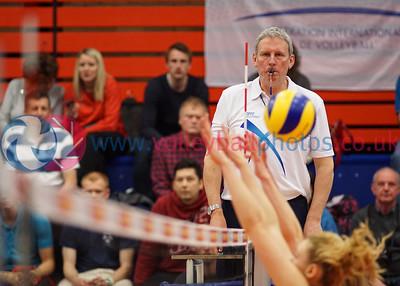 Scottish Volleyball Association, Women's Cup Final, City of Edinburgh 3 v 0 Edinburgh Jets (19, 17, 14), University of Edinburgh Centre for Sport and Exercise, Sun 19th Apr 2015. © Michael McConville