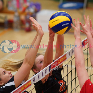 Scottish Volleyball Women's Div 1 Playoff Semi Finals, QTA Troon Team Ayrshire 2 v 3 Su Ragazzi (16-25, 25-22, 25-20, 19-25, 7-15), University of Edinburgh, Centre for Sport and Exercise, Edinburgh, Sat 11th Apr 2015.