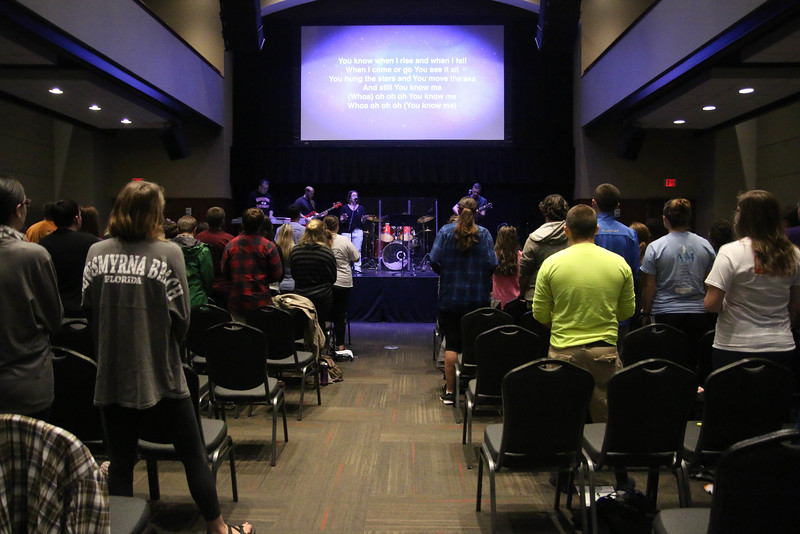 Saturday morning, Rachel Rushing led worship for the students for the second time.