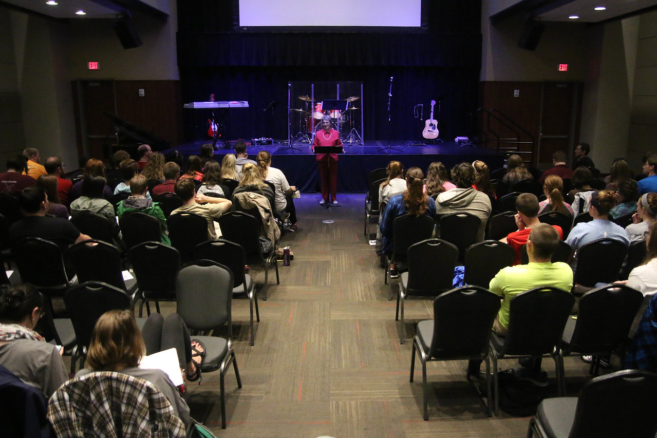 """Friday night and Saturday morning, Dr. Alice Cullinan provided the message on """"Who is God"""" and """"Who am I."""""""