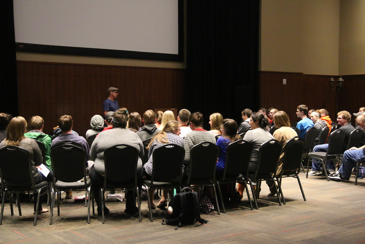 """At the same time, some students chose to go to a breakout session taught by Matt Orth titled, """"Developing Spiritual Confidence."""""""