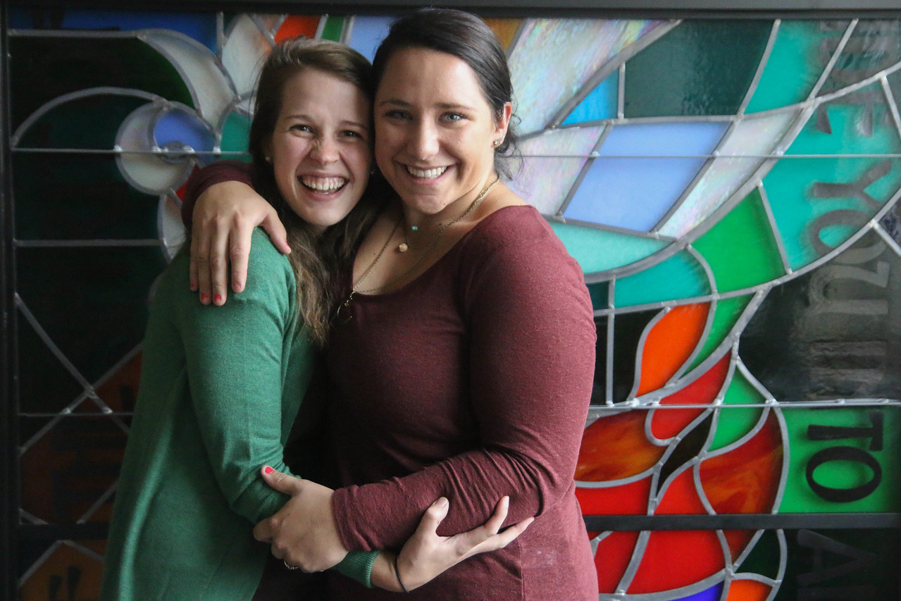 Ruth Anna Housand and Brittany Kertez posed for a picture after the retreat.
