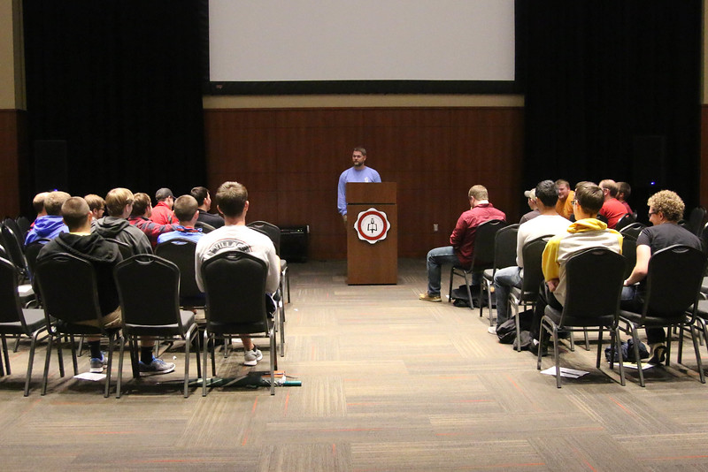 For Saturday's breakout sessions, guys and girls split up. The guys were led by Daniel Thomas on what it means to be a man of God.