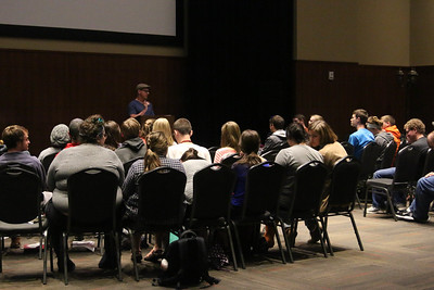 "At the same time, some students chose to go to a breakout session taught by Matt Orth titled, ""Developing Spiritual Confidence."""