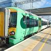 Southern Class 377 Electrostar no. 377707 at Milton Keynes Central platform 2A with a South Croydon service.