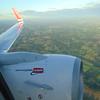 Flying from London Gatwick to Oslo Gardermoen onboard a Norwegian Air Shuttle Boeing 737.