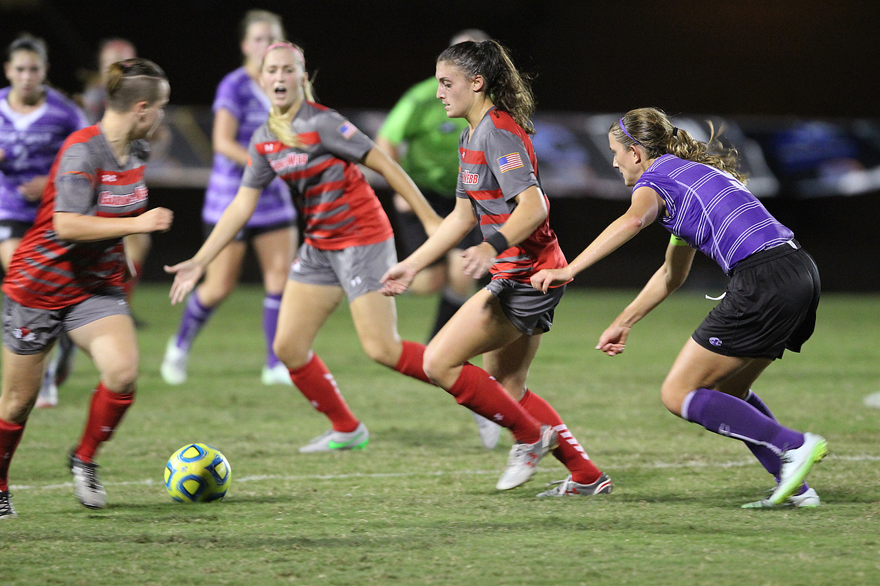 The Women's soccer team played against High Point University on Wednesday, September 30, 2015. They suffered a loss with the final score being 2-0.