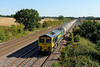 10 September 2015 :: 66604 is heading North at Cossington with 6M91 the Theale to Hope empty cement