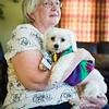 JOED VIERA/STAFF PHOTOGRAPHER-Lockport, NY-Volunteers Margaret Stevenson and Boo sit at Niagara Hospice.