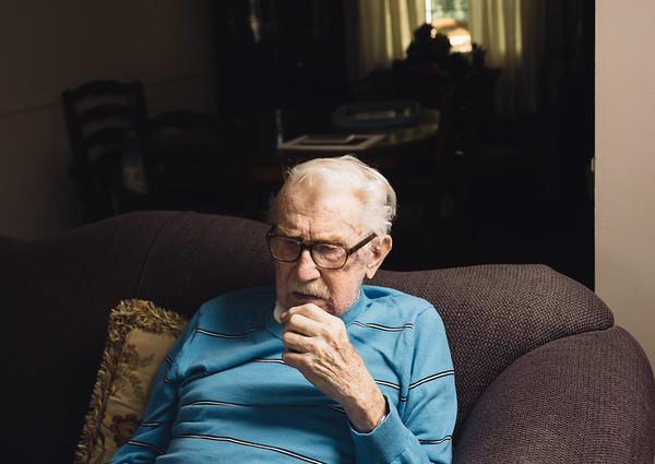 JOED VIERA/STAFF PHOTOGRAPHER-Lockport, NY-Joe Whalen reflects on his life at his home.