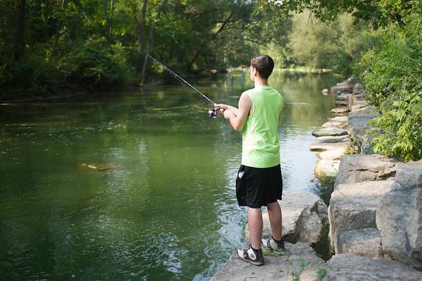JOED VIERA/STAFF PHOTOGRAPHER-Burt, NY-John Planko from Pennsylvania casts his rod at Fishermans Park