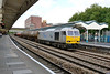 1 September 2015 :: In its grey Drax livery, 60066 passes through Newport with 6B33, empty oil from Theale to Robeston