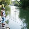 JOED VIERA/STAFF PHOTOGRAPHER-Burt, NY-Devin Gonzales from Tonawanda casts her rod at Fishermans Park