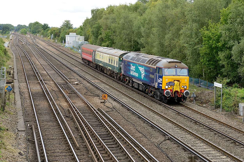2 September 2015 :: 57310 is pictured at Worting Junction with 5Z68 from Eastleigh to Willesden