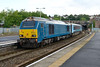 1 September 2015 :: 67001 arrives at Newport at the head of the WAG train, 1W96, the 1715 from Cardiff to Holyhead