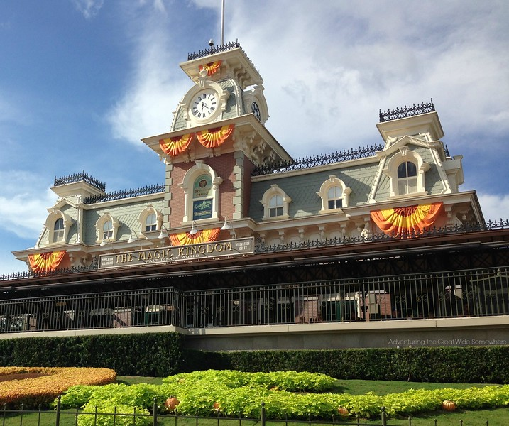 The Magic Kingdom Main Street Station Dressed Up for Fall