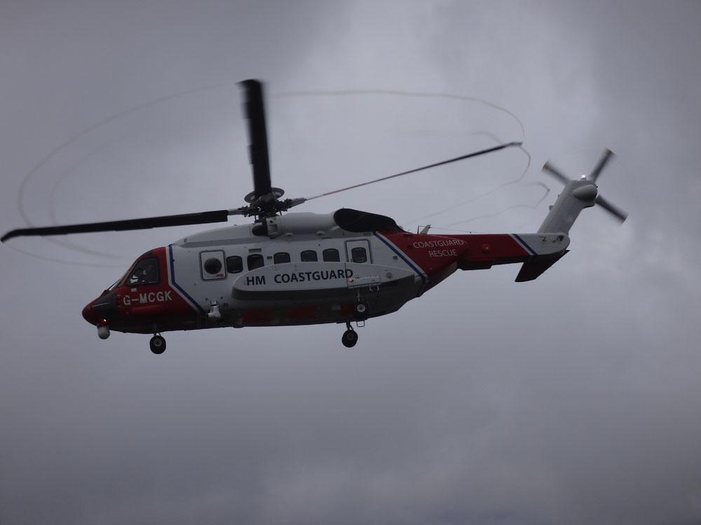 Crib Goch helicopter 3