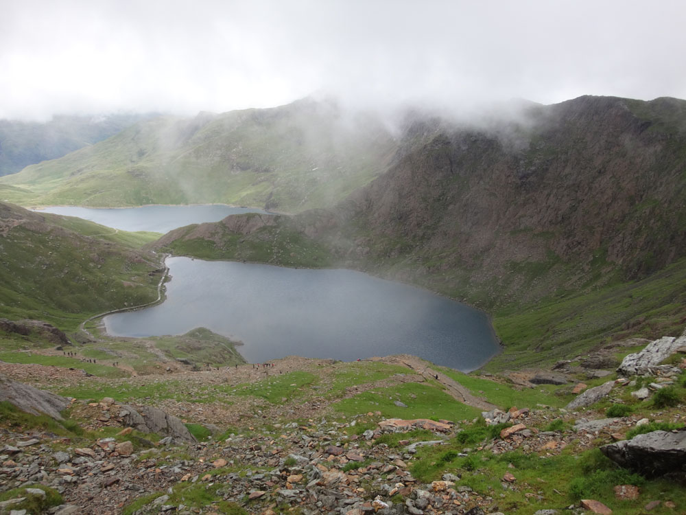 Llyn Llydaw, where the legendary Afanc - demigod of the rains - resides