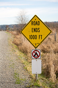 Road Ends 1000 Ft.