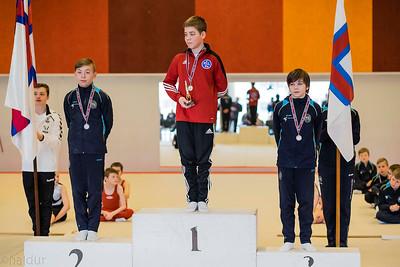 Smádreingir paralell barr. 1. Pauli Mittún úr Ljósinum, 2. Áron Høj úr Støkk og 3.  Jóhan Steingrund úr Støkk.
