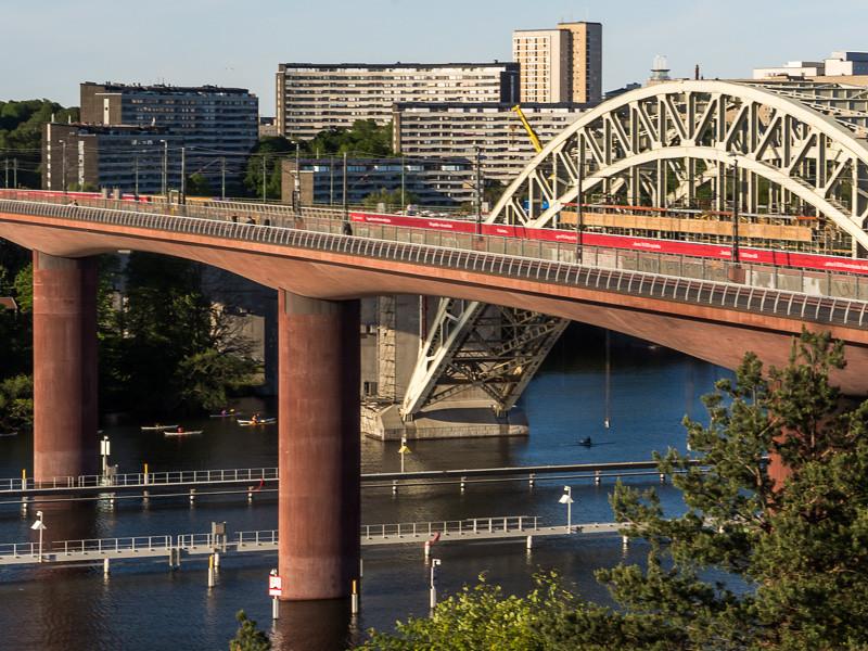 Gamla och nya järnvägsbron