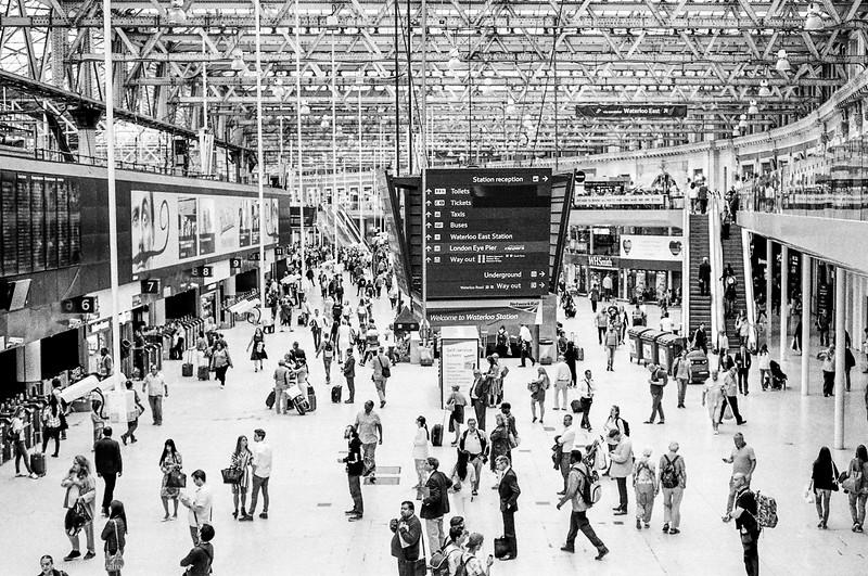 Waterloo Station, London.
