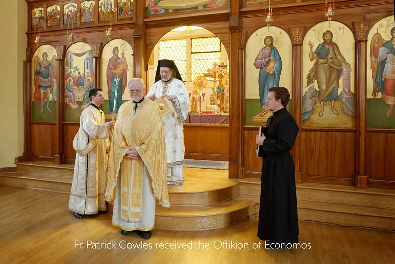 Fr. Patrick Cowles awarded Ofikion of Economos