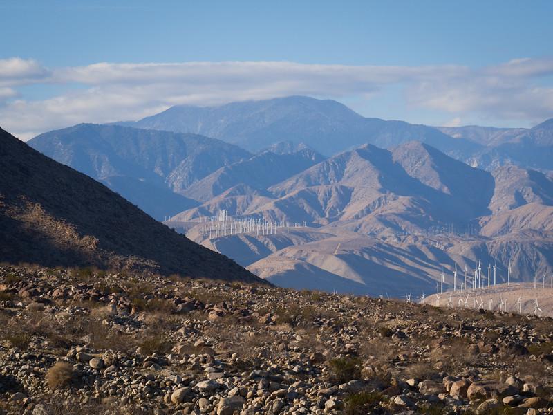 Clouds over the San Bernardino Mountains