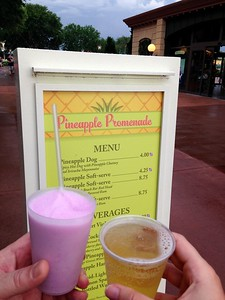 Violet Lemonade and Ace Pineapple Hard Cider at the Pineapple Promenade at the 2015 Epcot International Flower and Garden Festival
