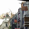 Street View of Diagon Alley and Gringotts Bank at the Wizarding World of Harry Potter
