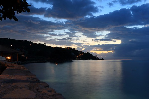 Night time in Jamaica