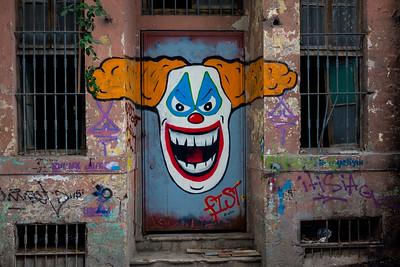 Street art in alley near hotel in Istanbul.