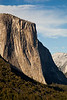 El Capitan looms proud over Yosemite Valley in the evening light.