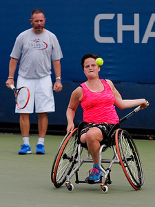 110. Aniek van Koot and coach Hans-Jurgen Striek - Us open wheelchair 2015_10