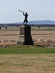 Site of Pickett's Charge across open field to Cemetery Ridge - David and Phyllis Oxman