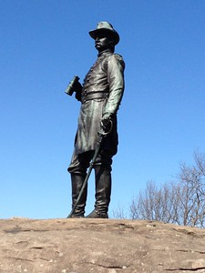 Monument to a Union officer -Little Round Top - David and Phyllis Oxman